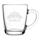 Theeglas - love you forever - isabella